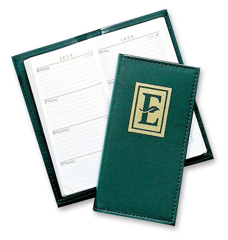 2014 Stitched Faux Leather Pocket Planner Custom Planners
