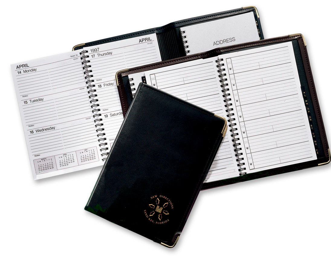 Spiral Weekly Desk Planner And Address Book Weekly